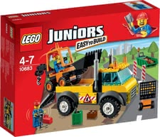 LEGO Juniors road-building lorry - Endless fun and moments of constructing and playing with this set by LEGO. Little boys can become real constructers with this LEGO set.