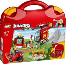 LEGO Juniors fire service suitcase - Lego Juniors fire fighter suitcase – Play and built – for fire fighter fans at an age of approximately 4 years.
