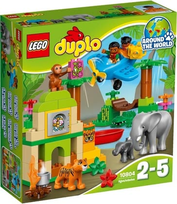 LEGO Duplo Dschungel - The large LEGO Duplo jungle contains a ruin to be built with many wild animals.
