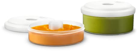 AVENT 食品保鮮盒 - * AVENT reusable cups for food conservation – Those cups are ideal in use with the 4in1 baby food preparer.