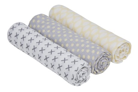 Lässig Swaddle & Burp Blanket L - Lässig wrapping cloth and cheesecloth 3 piece set – Enwrap your little one this these comfy cloths..
