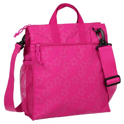 Сумка на коляску Lässig Buggy Bag Reflective Star Magenta 2016 - большое изображение