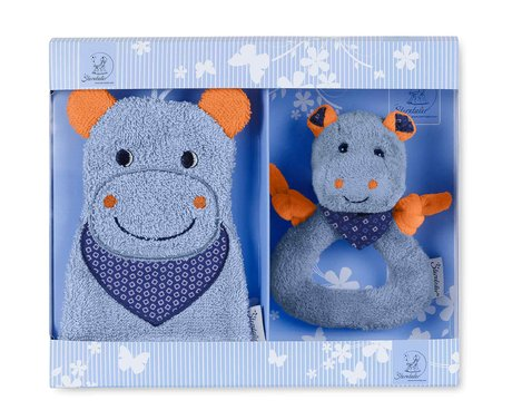 Sterntaler Geschenk-Set 2-teilig  - A cozy game-washcloth not only, but also a sweet toy with rattle function is included in the set. Children can easily access this function toys and keep.