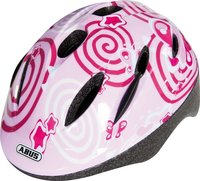 Abus bicycle helmet Smooty pink butterfly - Abus bicycle helmet Smooty pink butterfly - You child will be perfectly protected with this helmet Smooty. The colourful pink design is especially suitable for girls.