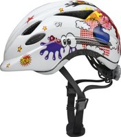 Abus bicycle helmet Anuky white comic - Abus bicycle helmet Anuky white comic - You child will be perfectly protected with this helmet Smooty. The neutral design is suitable for girls and boys.