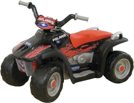 Peg-Perego 6V Polaris – eletrical quad - Peg-Perego 6V Polaris - quad électrique - Une authentique réplique de la vraie Quad Polaris.