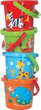 Gowi sand bucket animal themes - Gowi sand bucket animal themes – Those colourful animal themes should not be missed in any sandbox.