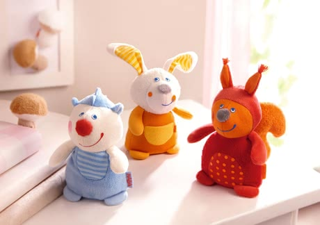 Haba Greiffigur Zauberwald-Freunde - The soft HABA grabbing characters enchanted forest friends go with your small children on a journey of discovery.