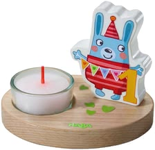 Haba tea-light holder 1st birthday - Haba tea-light holder 1st birthday – Celebrate your child's first birthday with this tea-light holder by Haba.