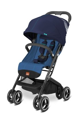 gb by Cybex Buggy Qbit+ -  The gb by Cybex buggy Qbit+ is small and handy, but big in its functions. It can be declined to a total lying position. The adjustment of the back rest is very useful and can be done with one hand.