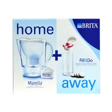Brita water filter Marella Home + away packet - Brita water filter Marella Home + away packet – Enjoy fresh, filtered water with the water filter by Brita – whether you are at home or on the go.