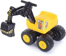 Sit-on Digger Toy Mobby Dig - Your little one dreams of a career as operator? This sit-on digger will definitely provoke enthusiasm then.