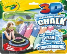 Crayola 3D chalk - Simple chalk art of painting will almost become alive – with the Crayola 3D chalk.