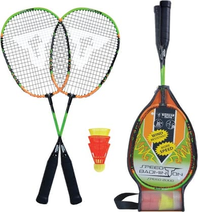Speed badminton set Speed 2000 - Speed badminton set Speed 2000 – Always in action – with this speed badminton set, whether you are at the beach, on lawns or in the hall.