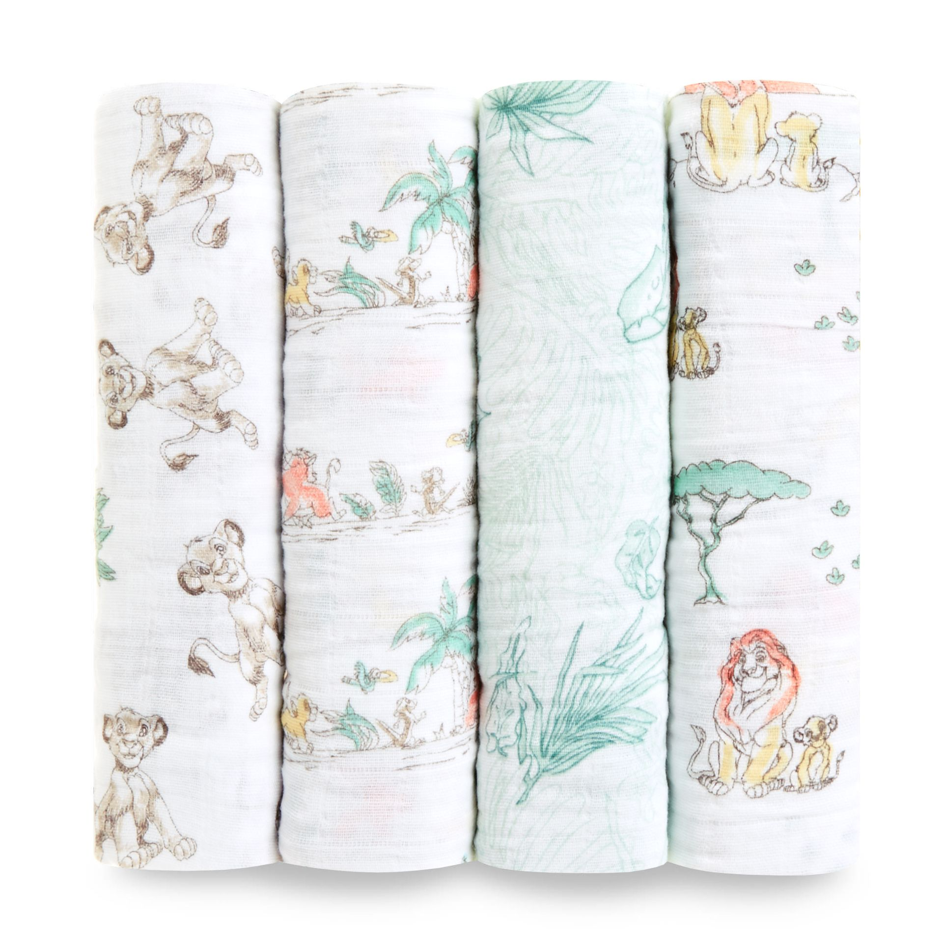 aden+anais Disney Swaddle Wickeltücher 4er Pack 2018 The Lion King ...