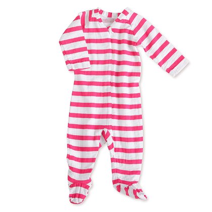aden+anais long sleeve zipper one-piece pyjama - aden+anais pyjamas with zip – Those pyjamas are comfortable to wear at night.