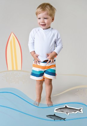 Lässig swimming shorts boys -  Cool shorts for little sailors. The great allover prints were made with fancy yarn and are nice to look at.