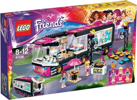 LEGO Friends Popstar Tourbus乐高玩具 朋友 流行明星 环城巴士 - 本款Lego Friends乐高朋友 明星观光巴士可以陪伴您的明星们。