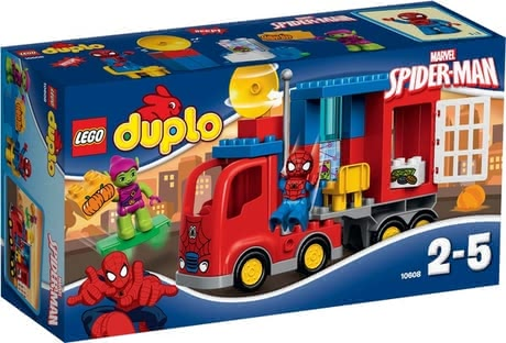 Lego Duplo Spiderman truck - Lego Duplo Spiderman truck – Chase after criminals with the Spiderman truck – can be used at an age of 2 years.