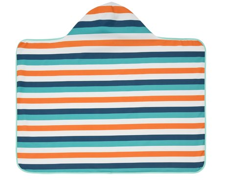 Lässig 男童連帽浴巾 -  This multifunctional hooded towel is an absolute enrichment at the beach or the swimming pool. It can be used both-sided and worn with one colour or with patterns.