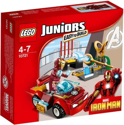 Lego Juniors Iron Man vs. Loki - Lego Juniors Iron Man vs. Loki - duels passionnants dans les voitures super rapides.