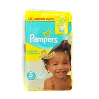 Pampers protection premium de taille de la couche 5 junior - Pack jumbo - * Pampers protection premium de taille de la couche 5 junior - Pack jumbo - porteurs de petites couches préfèrent ce genre de couches, car ils offrent une toison soyeuse et confort.