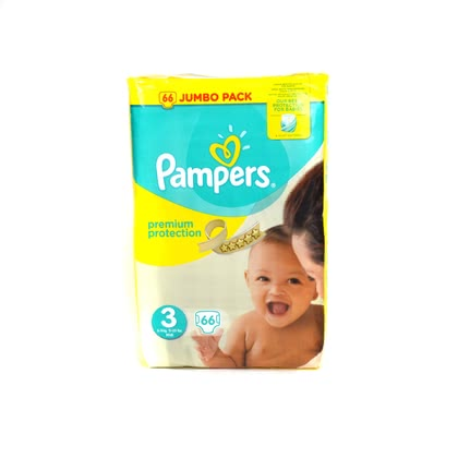 Pampers Premium Protection Windel Größe 3 Midi –Jumbo Pack- 2017 - Großbild