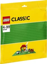 LEGO Classic base plate green - LEGO Classic green base plate. A useful enrichment for your child's LEGO collection.
