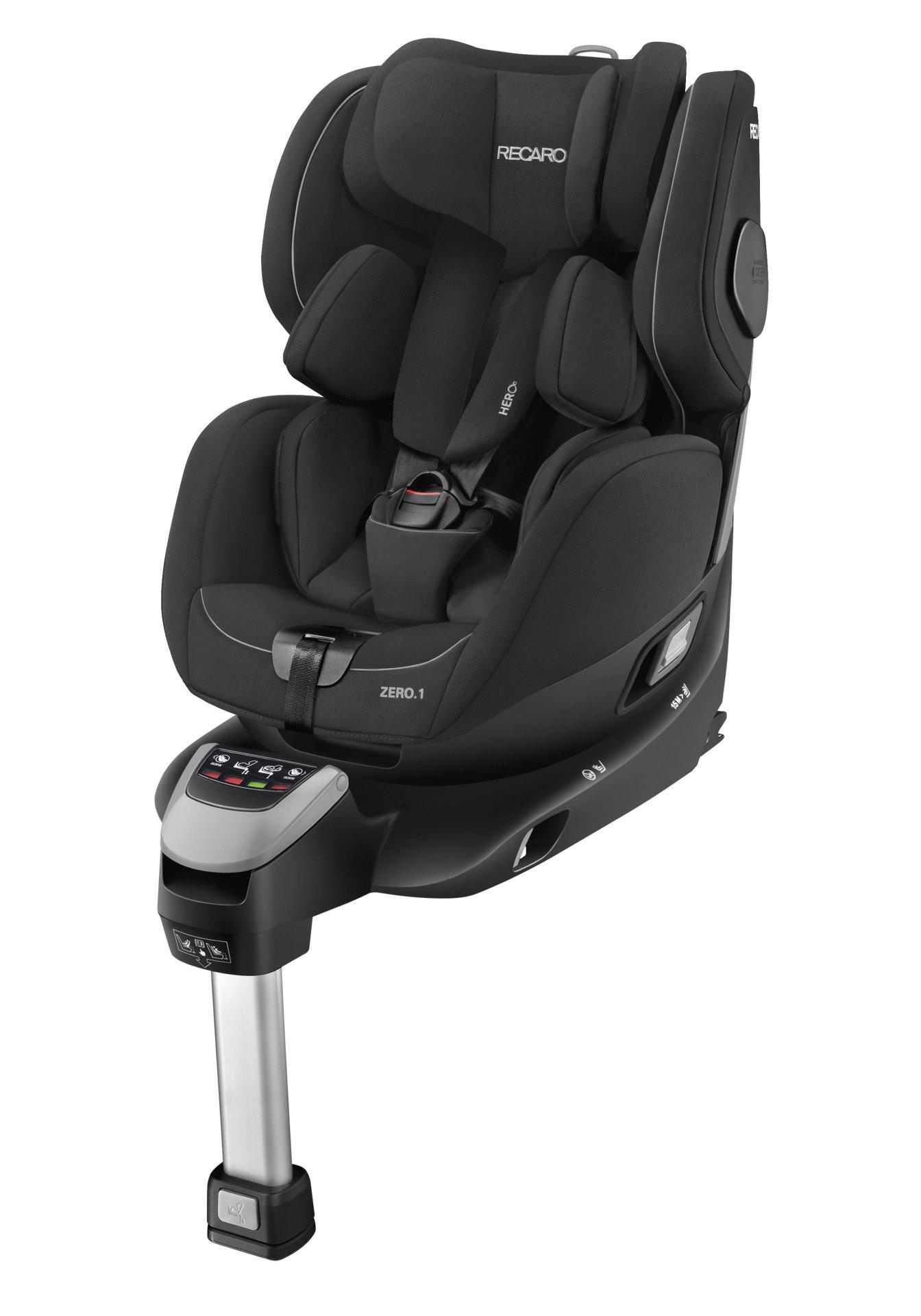 silla de coche recaro zero 1 i size con base isofix 2018 performance black comprar en kidsroom. Black Bedroom Furniture Sets. Home Design Ideas