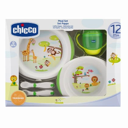 Chicco gift set meal 12m+ - Chicco gift set meal 12m+ - The gift set contains everything your child needs to eat on his/her own.
