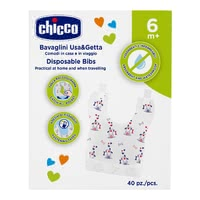 "Chicco disposable bib - Chicco disposable bib – Ideal for being on the go – the disposable bib ""Easy Meal"" by Chicco."