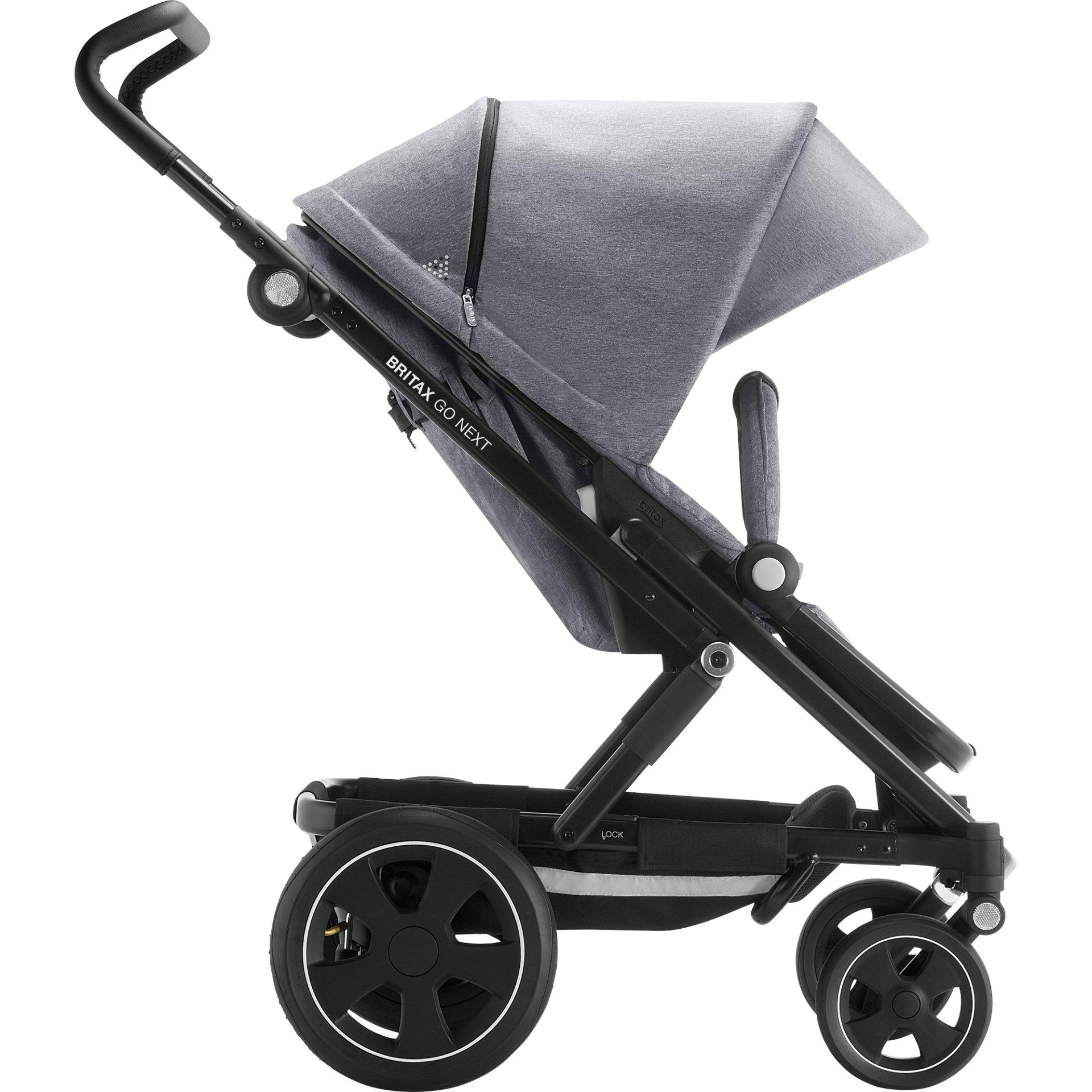 britax r mer kinderwagen go next 2 2019 grey melange black. Black Bedroom Furniture Sets. Home Design Ideas
