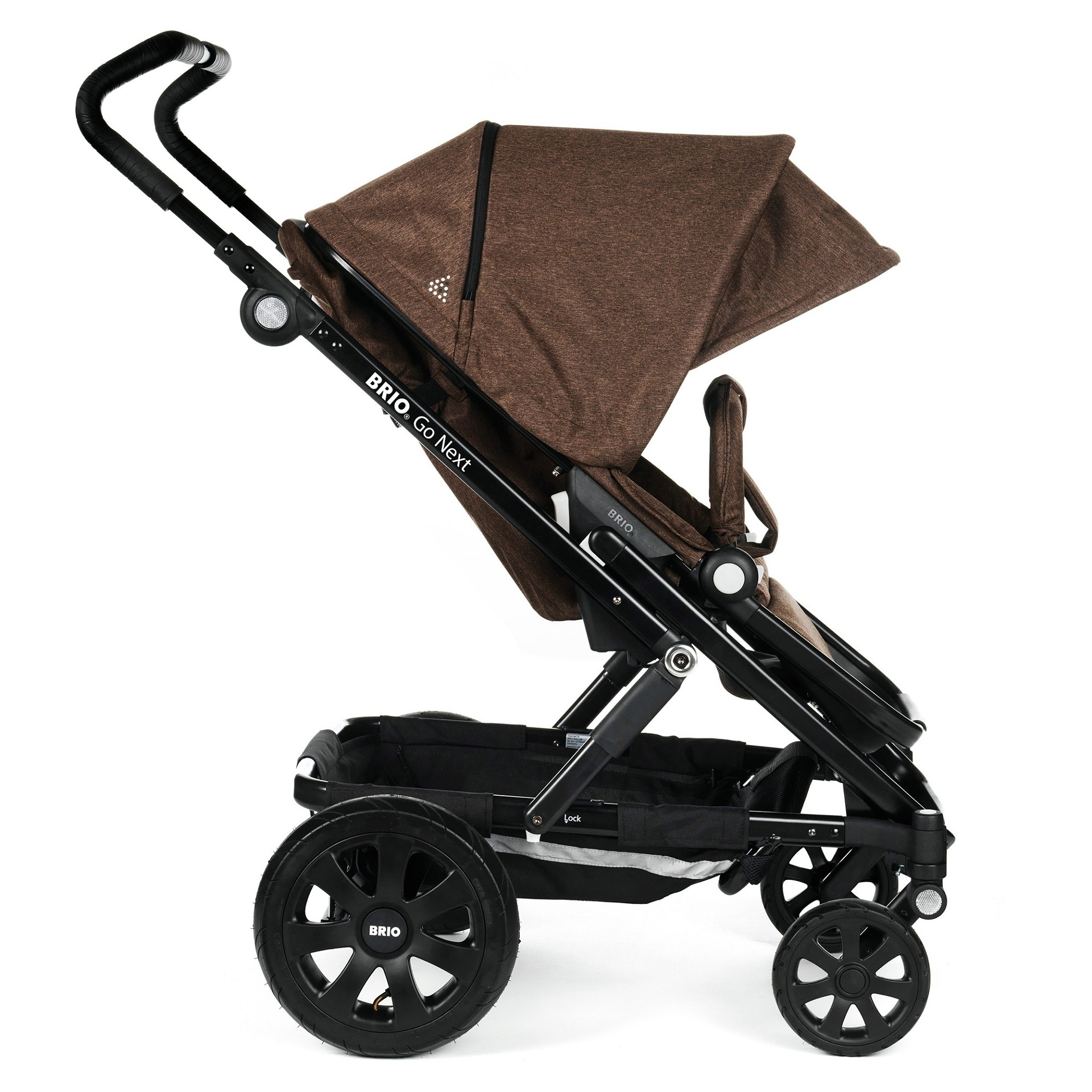 britax r mer kinderwagen go next 2 2016 brown melange online kaufen bei kidsroom kinderwagen. Black Bedroom Furniture Sets. Home Design Ideas