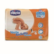 "Chicco Veste Asciutto diapers, size 1 ""New Baby"", 2-5 kg - The Chicco diapers size 1 are suitable for your favorite with a body weight of 2-5 kg, and offer perfect protection"