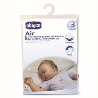 Chicco pillow for baby bed, 3m+ - Chicco pillow for baby bed, 3m+ - The especially flat pillow by Chicco makes a high circulation of air possible.