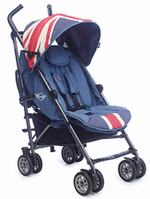 MINI by Easywalker Buggy Union Jack Vintage -  Your little adventurer will love this stylish buggy; it combines an extraordinary visual appearance with high-quality materials.