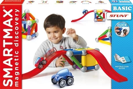 SMARTMAX Basic Stunt - SMARTMAX Basic Stunt – Magnetism is simply compelling – especially children are fascinated by the SMARTMAX Basic Stunt as magnetic construction set.