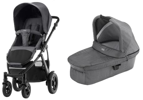 SMILE 2 Britax Römer incl. capazo Hard Carrycot Black Denim 2018 - Imagen grande