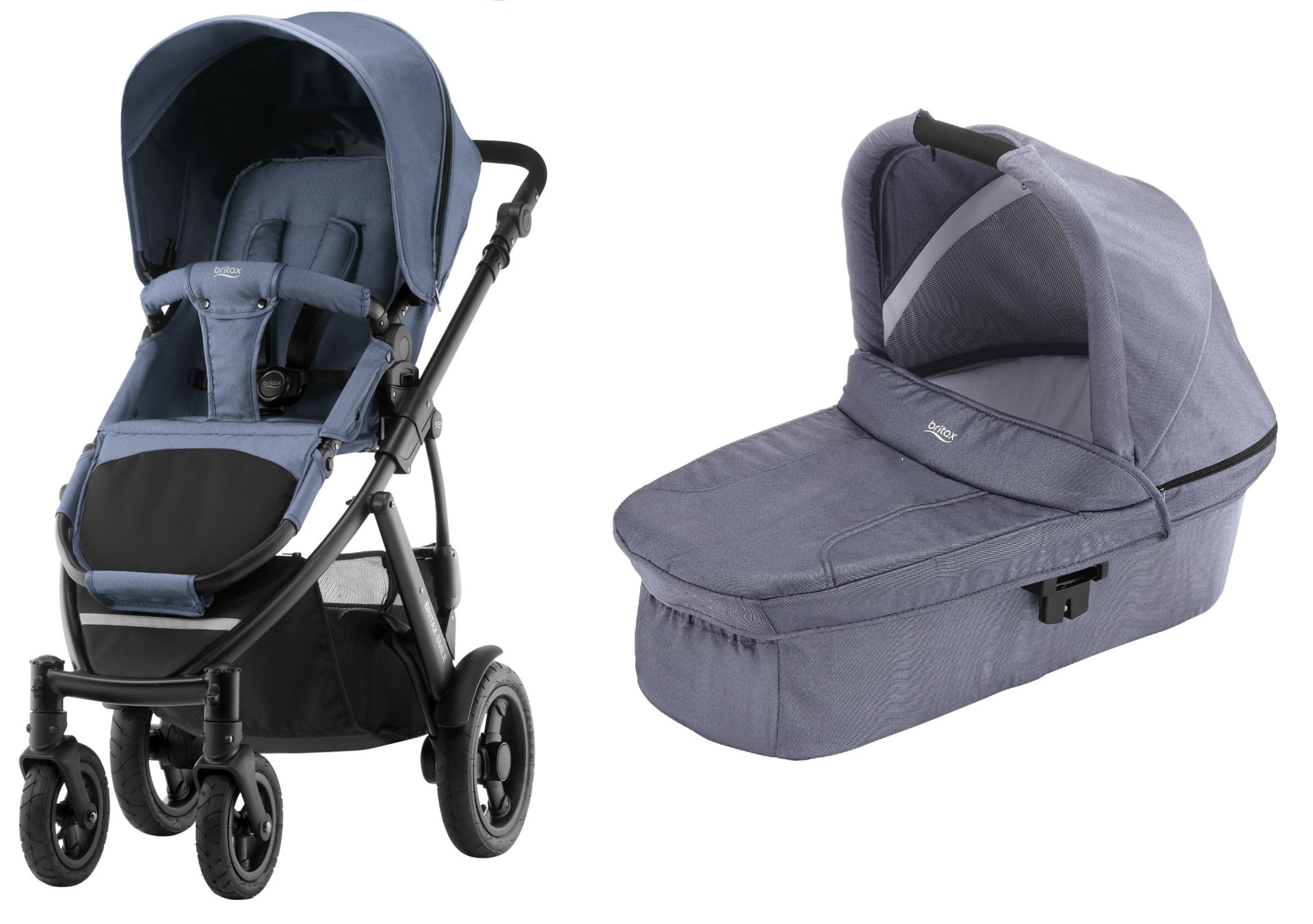 britax r mer smile 2 inkl hard carrycot kinderwagen aufsatz 2019 blue denim online kaufen bei. Black Bedroom Furniture Sets. Home Design Ideas