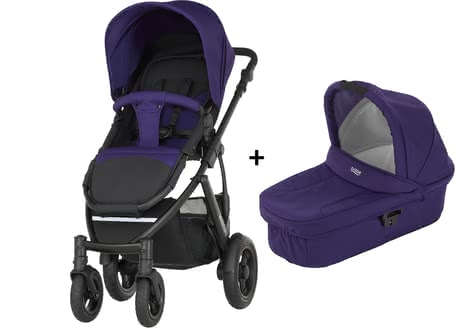 Britax Römer SMILE 2 incl. Hard Carrycot Attachment Mineral Purple 2017 - large image