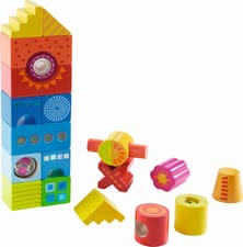 "Haba building blocks ""many-coloured"" - Haba building blocks ""many-coloured"" – A lot of fantasy towers can be built with this set by Haba."