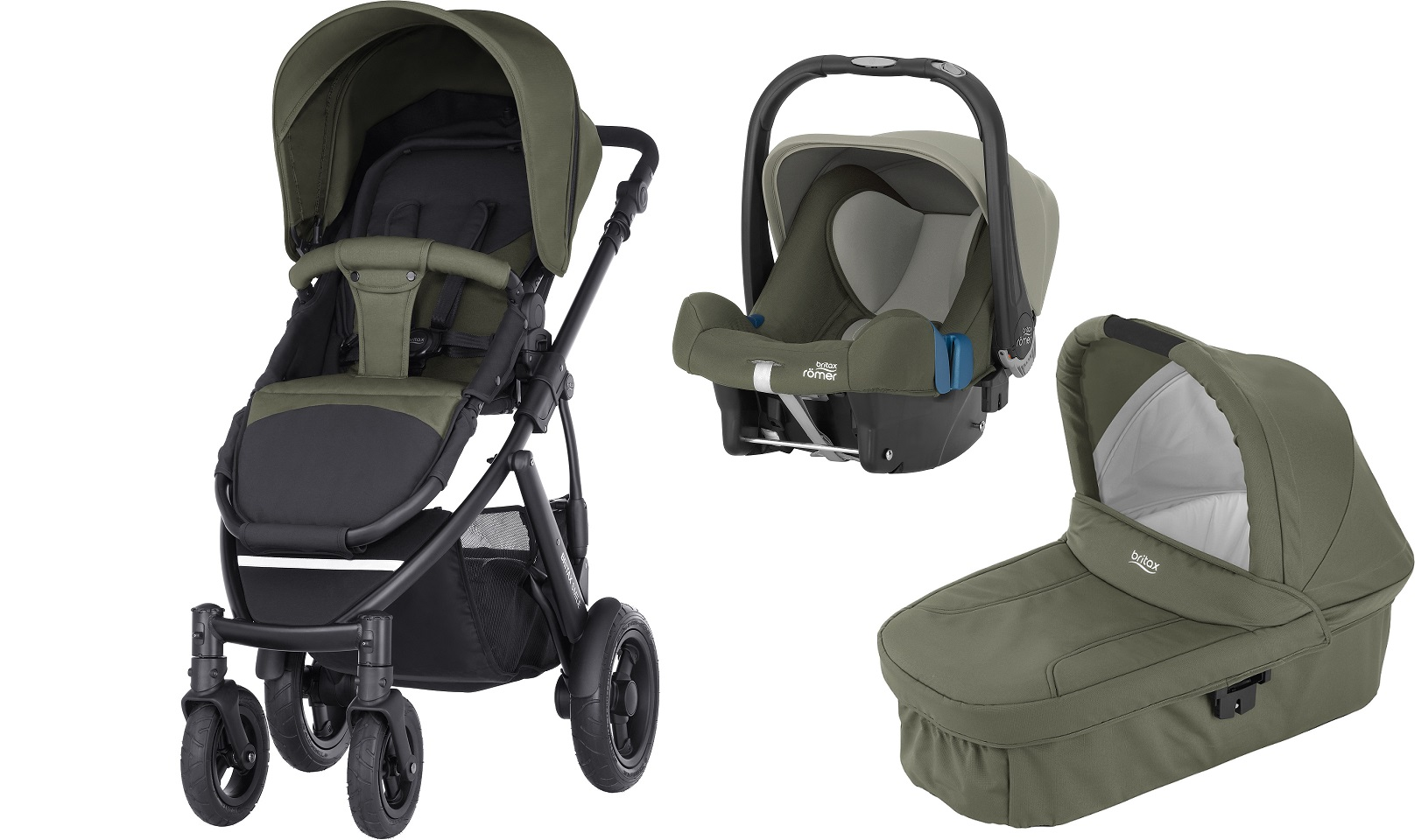 britax r mer smile 2 inkl hard carrycot babyschale baby safe plus shr ii 2017 olive green. Black Bedroom Furniture Sets. Home Design Ideas