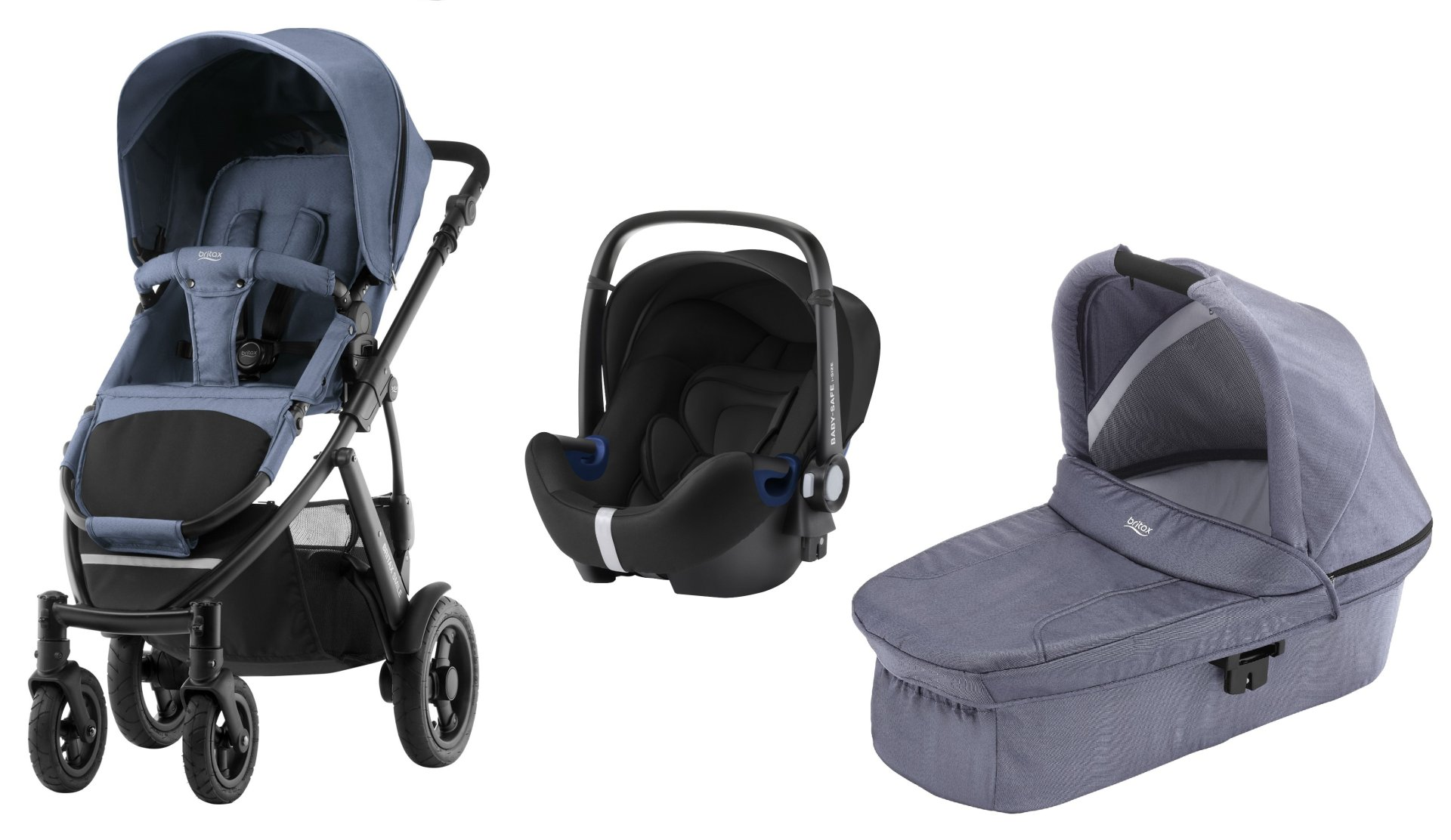 britax r mer smile 2 inkl hard carrycot babyschale baby safe 2 i size 2019 blue denim online. Black Bedroom Furniture Sets. Home Design Ideas