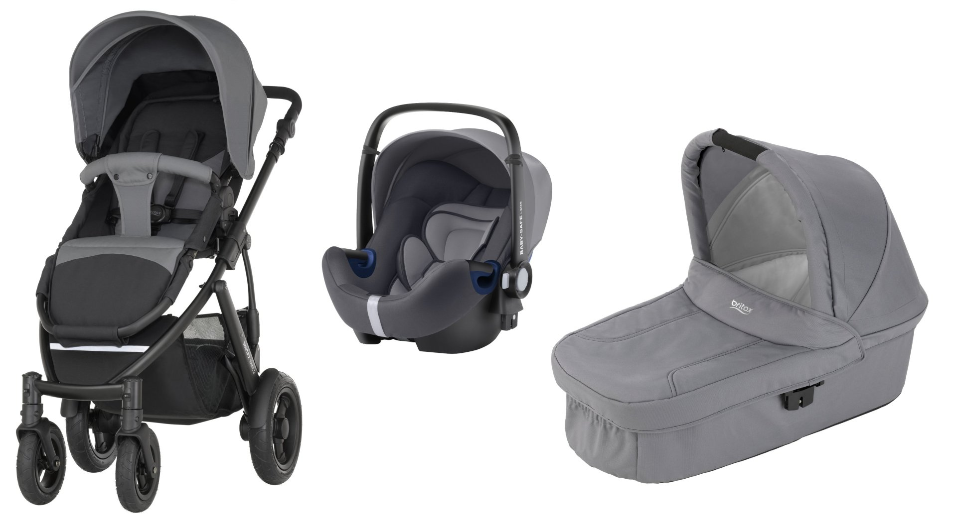 britax r mer smile 2 inkl hard carrycot babyschale baby safe plus shr ii 2018 steel grey. Black Bedroom Furniture Sets. Home Design Ideas