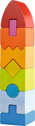 "Haba stacking game ""Rainbow Skyscraper"" - Haba stacking game ""Rainbow Skyscraper"" – Colourful like a rainbow, this stacking game will support your child's first senses."