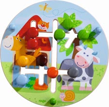 "Haba motor skills board ""farmer's world"" - Haba motor skills board ""farmer's world"" – This board introduces first colours and geometric figures to your child."