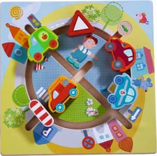 "Haba motor skills board ""vehicle world"" - Haba motor skills board ""vehicle world"" – Hum, hum, hum – a lot of pleasure will be provided with this toy."