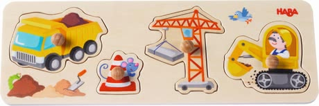 "Haba grasping puzzle ""At the construction site"" - Haba grasping puzzle ""At the construction site"" – This puzzle animates to discover and play."