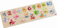 "Haba grasping puzzle ""number fun"" - Haba grasping puzzle ""number fun"" – Discover a world of animals and learn the numbers from one to ten."