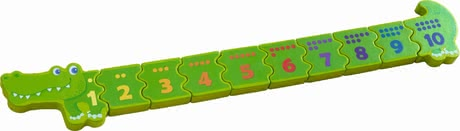 "Haba matching game ""number crocodile"" - Haba matching game ""number crocodile"" – Learning numbers from one to ten."